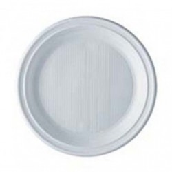Assiette plastique blanche X50