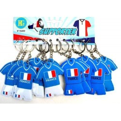 12 porte-clés maillot foot France(0.28€)