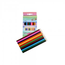 12 CRAYONS COULEURS+TAILLE CRAYONS