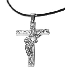 Collier croix guitare